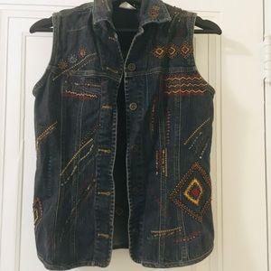 Jeans boho vest